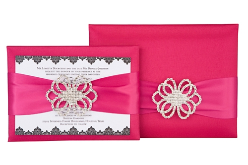 Johnson Couture Silk Wedding Invitation Box Design by Event House