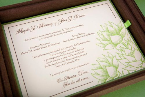 Two Ink Thermographed Wedding Invitations at Event House