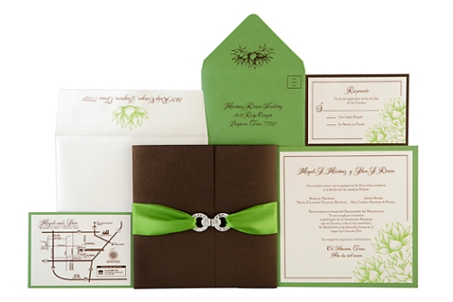 Magali - Embellished Couture Wedding Invitations by Event House Houston