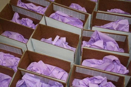 Ready to mail - Silk Wedding Invitation Boxes at Event House Houston